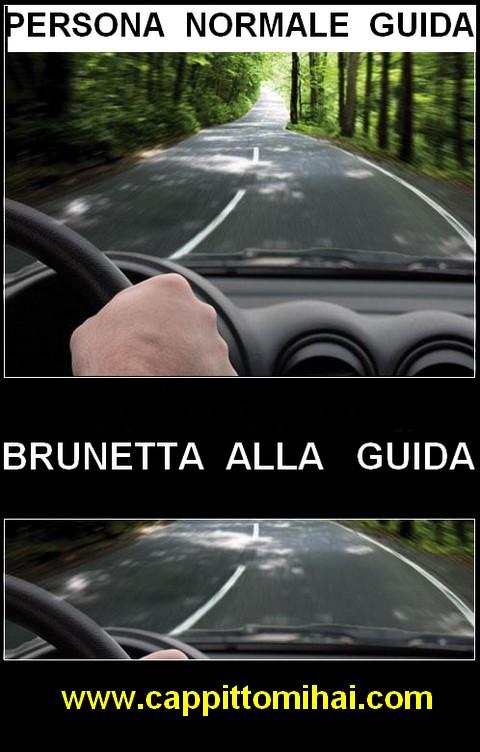 brunetta alla guida